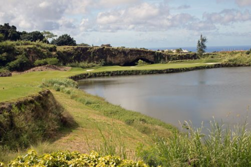 From the tee box at Apes Hill Club in Barbados