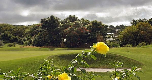The greens of the Apes Hill Club in Barbados