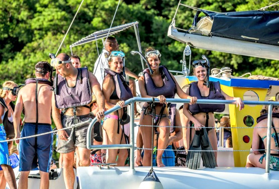 Catamaran touring in St. Lucia