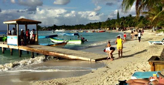 The beach at West Bay in Roatan Honduras