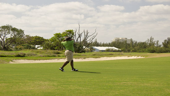 In the fairway on the Reef Course in Freeport Bahamas.