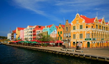 In Curacao, the waterfront in Willemstad
