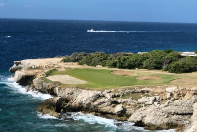 The signature hole at Blue Bay Beach course in Curacao