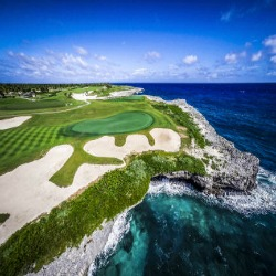 Hole #18 at Corales Golf course in the Dominican Republic