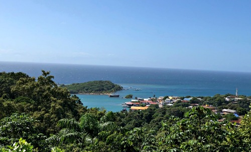 View from Spanish town in Roatan Honduras.