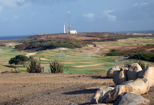 Ocean views at Tierra del Sol golf course in Aruba