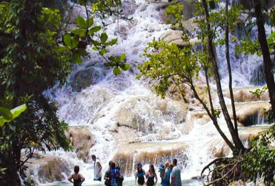 Dunn's River Falls and Park in Jamaica