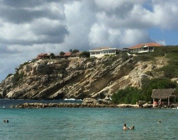 The calm waters of Blue Bay Beach in Curacao